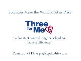 Volunteer Make the World a Better Place