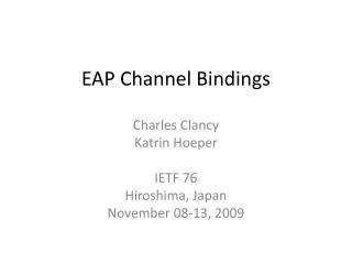 EAP Channel Bindings