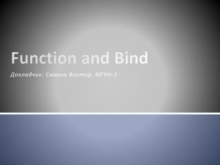 Function and Bind