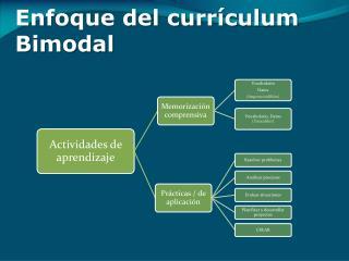 Enfoque del currículum Bimodal