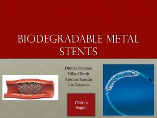 BIODEGRADABLE METAL STENTS