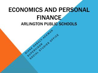 Economics and Personal Finance Arlington Public Schools