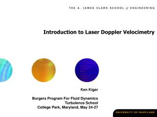 Introduction to Laser Doppler Velocimetry