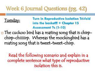 Week 6 Journal Questions (pg. 42)