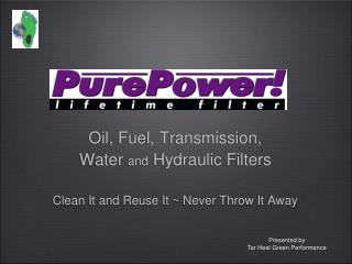 Oil, Fuel, Transmission,  Water  and  Hydraulic Filters