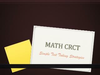 MATH CRCT