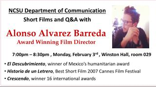 Alonso Alvarez  Barreda Award Winning Film Director