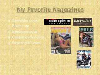 My Favorite Magazines