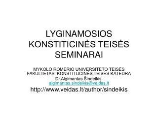 LYGINAMOSIOS KONSTITICINES TEISES SEMINARAI