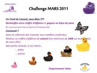 Challenge MARS 2011