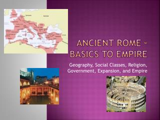 Ancient Rome – Basics to Empire