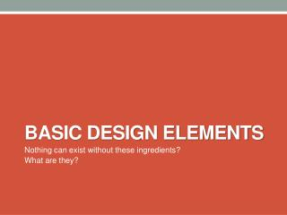 basic design Elements