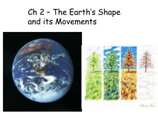 Ch 2 – The Earth's Shape and its Movements