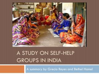 A Study on Self-Help Groups in India