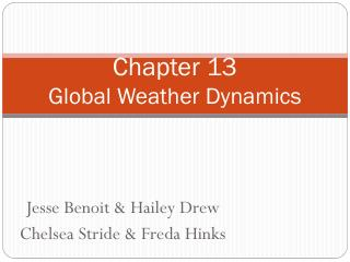Chapter 13 Global Weather Dynamics
