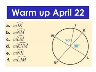 Warm  up April 22