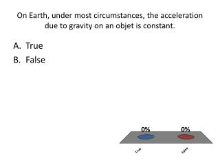 On Earth, under most circumstances, the acceleration due to gravity on an objet is constant.