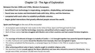 Chapter 13 - The Age of Exploration