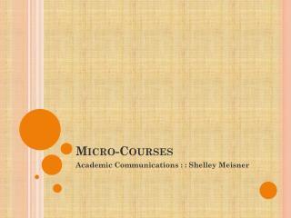 Micro-Courses