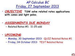 AP  Calculus  BC Friday, 27 September 2013
