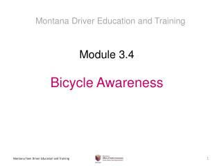 Module  3.4 Bicycle Awareness
