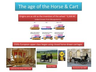 The age of the Horse & Cart