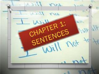 Chapter 1: Sentences