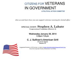 CITIZENS FOR  VETERANS  IN GOVERNMENT A POLITICAL ACTION COMMITTEE