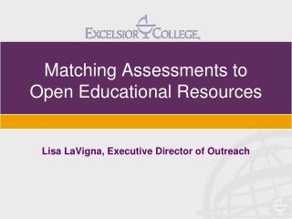 Matching Assessments to Open Educational Resources