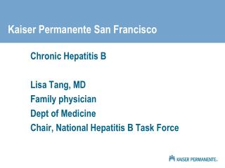 Kaiser Permanente San Francisco