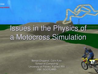 Issues in the Physics of a Motocross Simulation