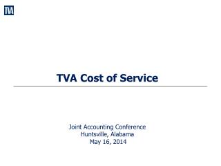 TVA Cost of Service