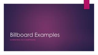 Billboard Examples