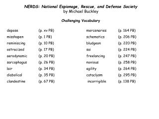 NERDS: National Espionage, Rescue, and Defense Society  by Michael  Buckley