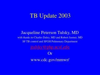 TB Update 2003