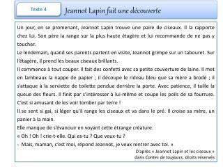 Jeannot Lapin fait une découverte