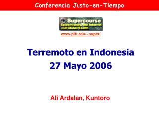 Terremoto en Indonesia 27 Mayo 2006