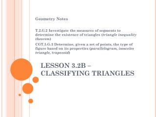 LESSON 3.2B –  CLASSIFYING TRIANGLES