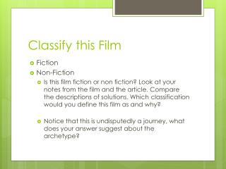 Classify this Film