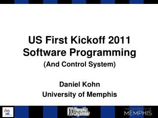 US First Kickoff 2011 Software Programming