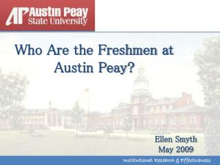 Who Are the Freshmen at Austin Peay?