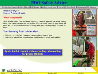 PDO Safety Advice