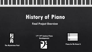 History  of  Piano