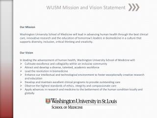WUSM Mission and Vision Statement