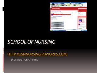 School of Nursing usnnURSING.PBWORKS.COM/