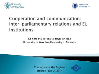 Cooperation and communication: inter-parliamentary relations and EU institutions