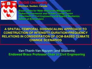 A SPATIAL-TEMPORAL DOWNSCALING APPROACH TO CONSTRUCTION OF INTENSITY-DURATION-FREQUENCY RELATIONS IN CONSIDERATION OF GC