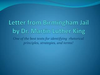 Letter from Birmingham Jail by Dr. Martin Luther King