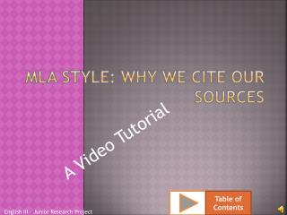 Mla style: why we cite our sources