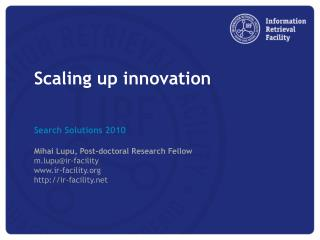 Scaling  up innovation